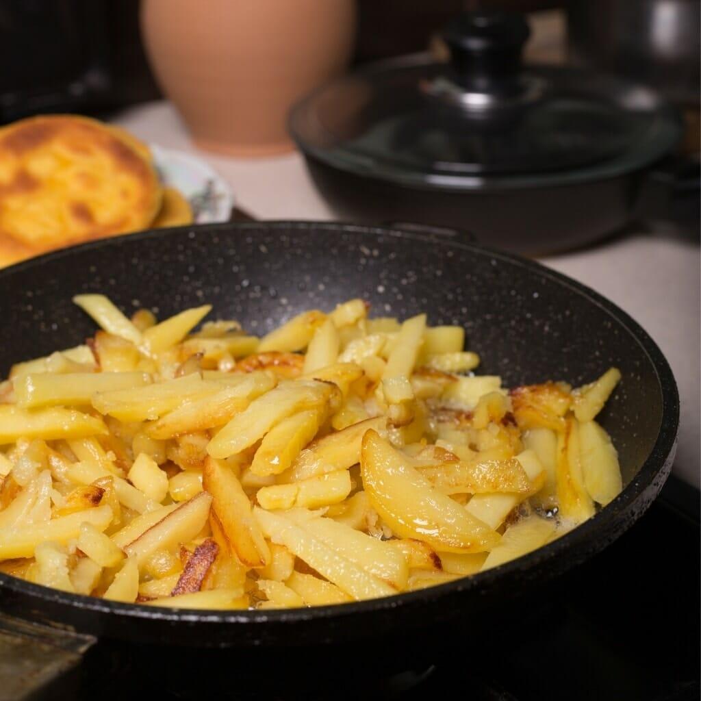 Frites à la poêle