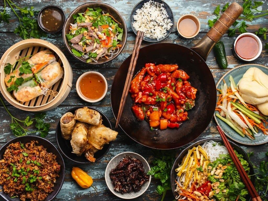 Wok plats chinois